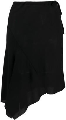 Ann Demeulemeester Asymmetric Tie Fastening Skirt