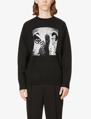 Burberry Zebra-intarsia wool jumper