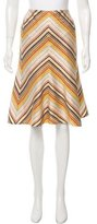 Akris Punto Multicolor A-line Skirt