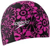 Speedo Lycra Swimming Caps, Black/Hot Pink