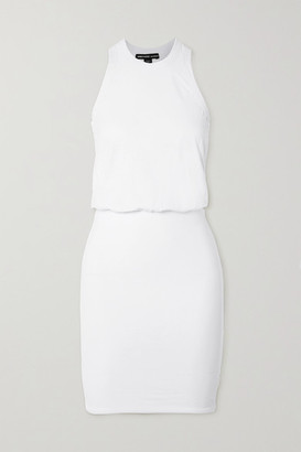 James Perse Stretch Cotton-jersey Mini Dress - White