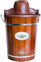 Nostalgia Electrics Vintage Collection Wood Bucket Ice Cream Maker - ICMP600WD - Brown - 6 qt