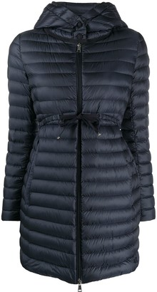 Moncler long feather-down jacket