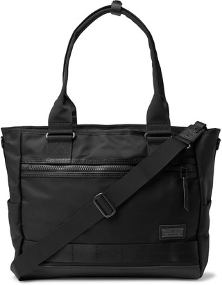 MASTERPIECE Leather-Trimmed Mastertex-08 Tote Bag