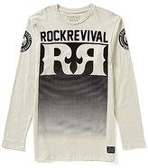 Rock Revival Gradient-Pixel Graphic Long-Sleeve Tee