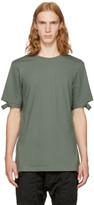 Helmut Lang Green Slash Sleeve T-shirt