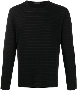 Roberto Collina Long Sleeved Striped Top