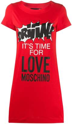Love Moschino slogan print dress