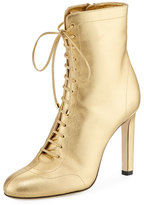 Jimmy Choo Daize 100mm Metallic Leather Bootie