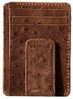 M&F Western Vintage Ostrich Money Clip (Brown) Wallet Handbags