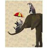 Asstd National Brand Penguin and elephant Canvas Wall Art