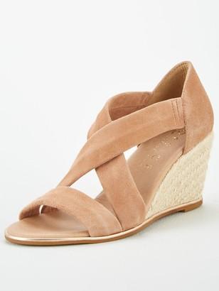 Office Maiden Wedge Sandals - Nude