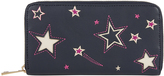 Accessorize Star Cutout Large Zip Around Wallet