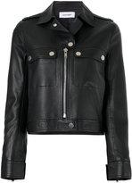 Courreges classic biker jacket