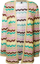 M Missoni zig-zag open cardigan - women - Cotton/Polyamide/Metallic Fibre - 46