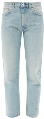 Totême Original Cropped Straight-leg Jeans - Light Blue