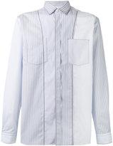 Lanvin pinstripe seam pattern shirt - men - Cotton - 40