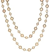 Chanel Chicklet Sautoir Brown Necklace