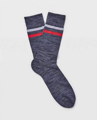 Club Monaco Spacedyed Two-Stripe Socks