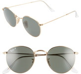 Ray-Ban 50mm Retro Inspired Round Metal Sunglasses