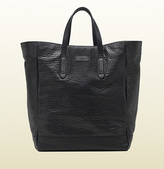 Gucci Black Grainy Leather Top Handle Tote