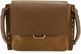 Isabel Marant Asli Studded Leather/Suede Shoulder Bag