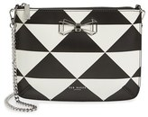 Ted Baker 'Adelee' Geo Print Leather Crossbody Bag - Black