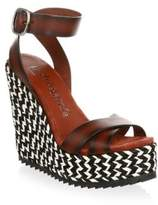 Pedro Garcia Taika Wedge Leather Sandals