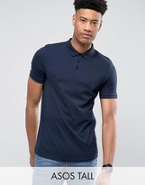 Asos TALL Polo Shirt In Navy