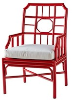 The Well Appointed House Indoor/Outdoor Aluminum Arm Chair with Cushion in Antique Red