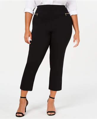 INC International Concepts Inc Plus Size O-Ring Skinny Ankle Pants