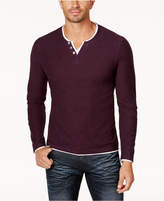INC International Concepts Men's Long-Sleeve Split-Neck T-Shirt, Only at Macy's