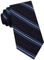 Black Brown 1826 Heather Stripe Blended Silk Tie