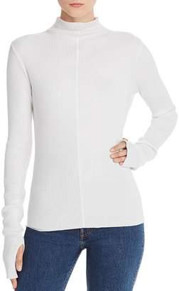 Helmut Lang Ribbed Mock-Neck Sweater