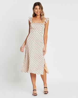 Atmos & Here Janice Tie Back Midi Dress