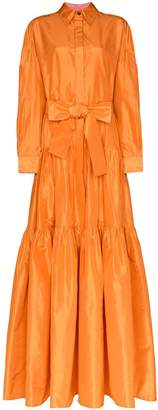 Carolina Herrera tiered maxi shirt dress