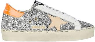 Golden Goose Hi Star Low-Top Glitter Sneakers