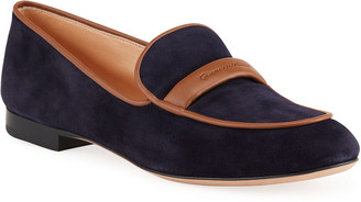 Gianvito Rossi Flexible Suede Loafers