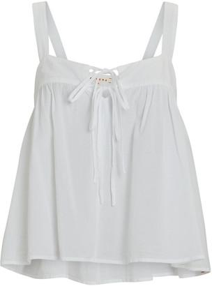 XiRENA Kyra Sleeveless Cotton Poplin Top