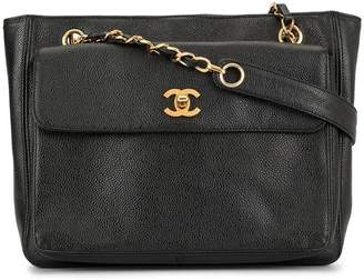 Chanel Pre-Owned CC Logos Chain Shoulder Tote Bag
