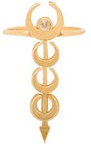 Vanessa Mooney The Sadi Crescent Stacked Moon Ring
