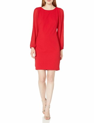Donna Ricco Women's 1 Pc Long Sleeve Missy Dress
