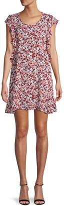 Supply & Demand Floral-Print Ruffled Dress