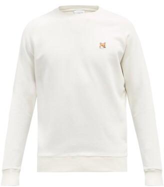 MAISON KITSUNÉ Fox Head Cotton-jersey Sweatshirt - White