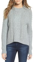 BP Women's Studded Cable Knit Sweater