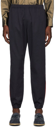 Needles Navy and Red Dry Side Line Lounge Pants