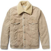 Remi Relief Shearling-Trimmed Cotton-Blend Corduroy Jacket