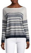 Splendid Striped Linen Pullover