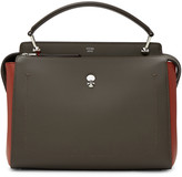 Fendi Taupe and Red Dotcom Click Bag