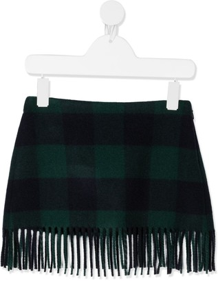 Il Gufo Fringed Wool Skirt